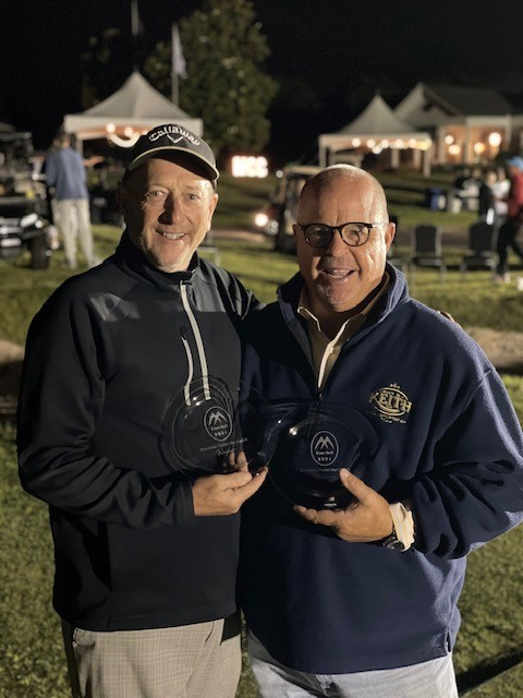 2021 Shootout Under The Lights Winners Greg Bevel (Left) & Tom Pangburn